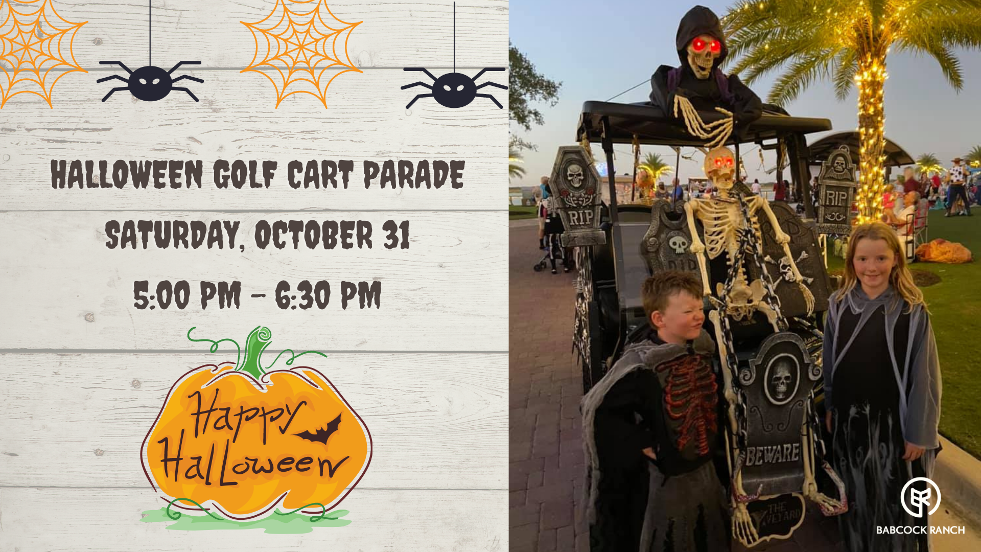 hALLOWEEN Golf Cart Parade